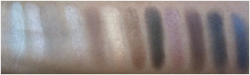 naked palette swatches