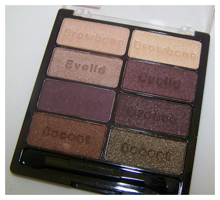 downtown browns close up flash Black Radiance 8 Pan Palette Swatches