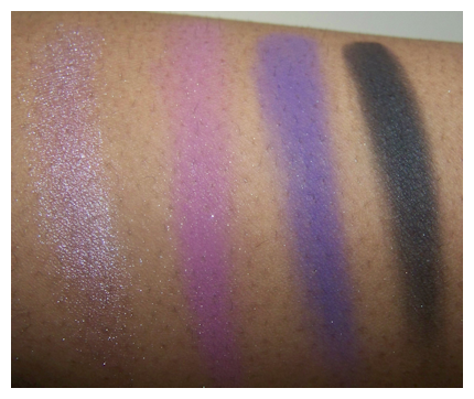 posh plums 1st half swatch flash Black Radiance 8 Pan Palette Swatches