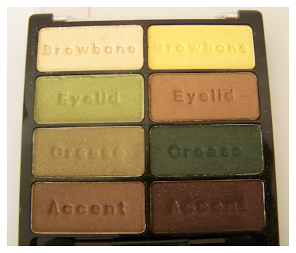 urban jungle close up Black Radiance 8 Pan Palette Swatches