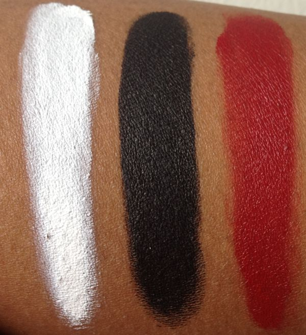inglot gel liners swatches 1 Inglot Gel Liner Swatches