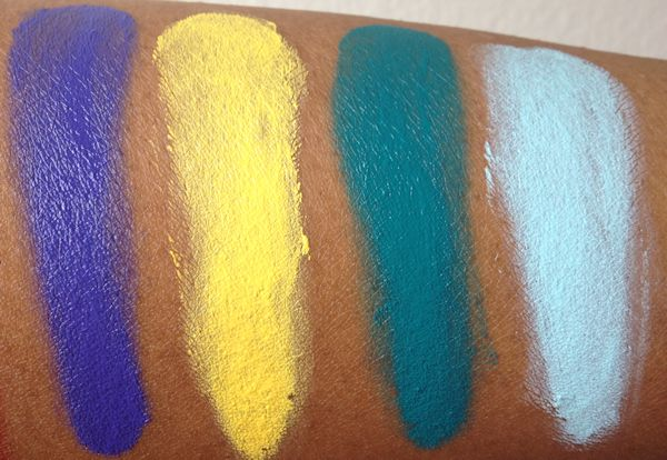 inglot gel liners swatches 2 Inglot Gel Liner Swatches