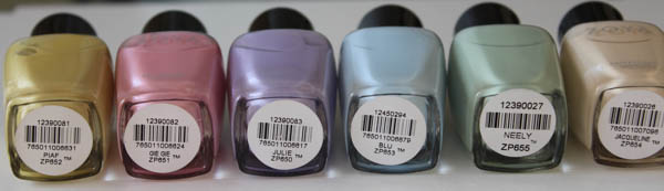 zoya lovely collections names