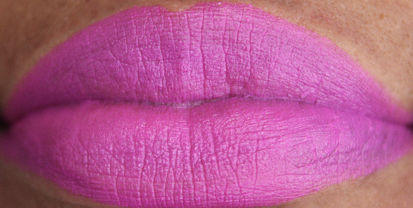 mac night blooming lip swatch