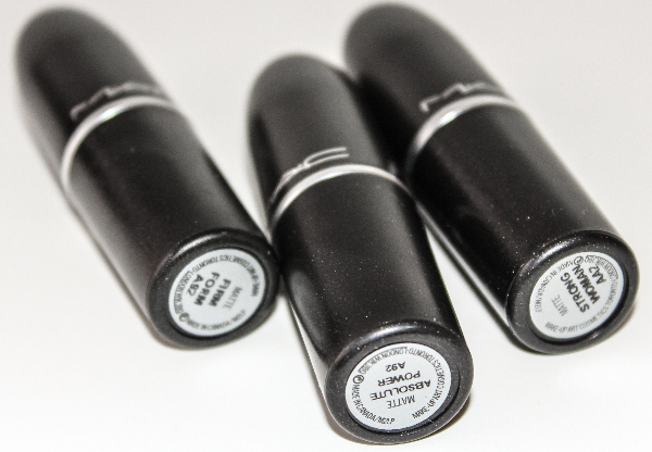 mac strength collection MAC Strength Lipstick Swatches