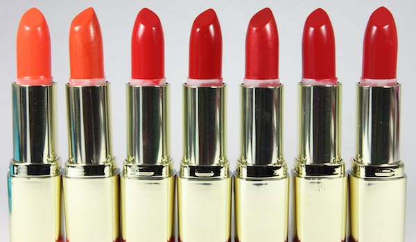 milani colorstatement oranges and reds lipstick open