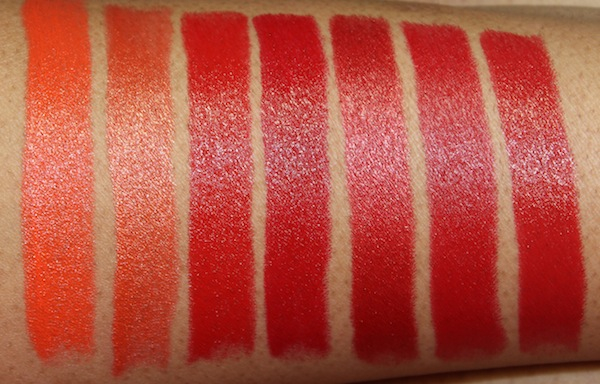 milani colorstatement oranges and reds lipstick swatches flash