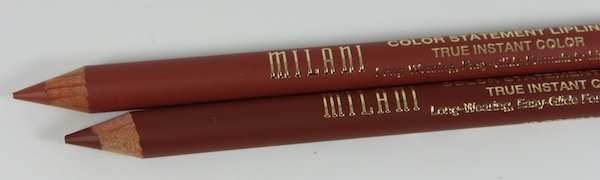 milani color statement lip liner 09 & 10 close