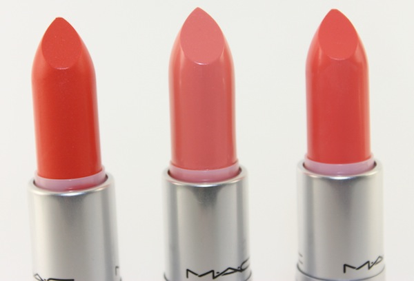 MAC All about orange lipsticks