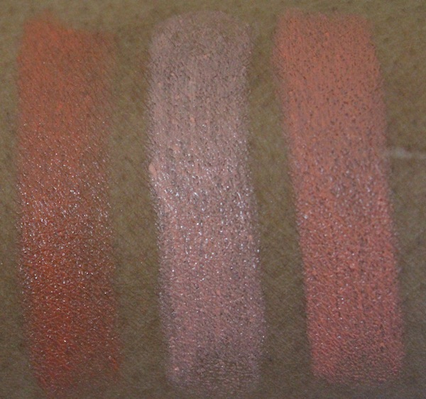 MAC all about orange lipstick swatches