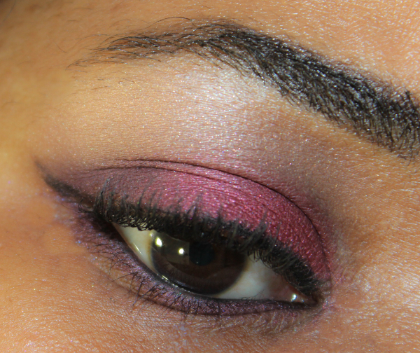 mac brazenly & crimson tryst eye