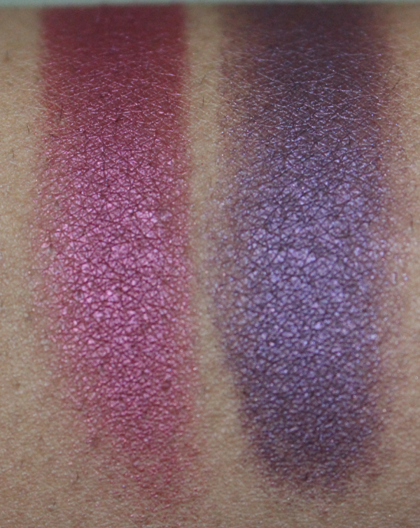 mac crimson tryst and brazenly eyeshadow close