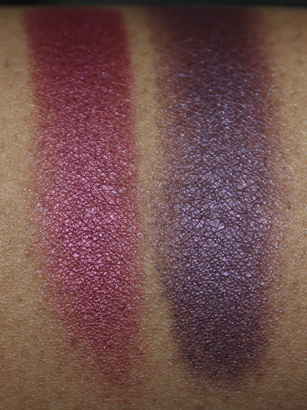 mac crimson tryst and brazenly eyeshadow flash close