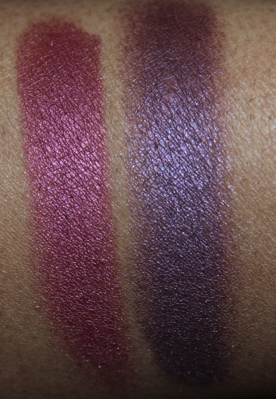 mac crimson tryst and brazenly eyeshadow flash