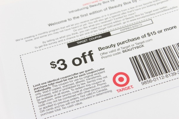 target beauty box coupon