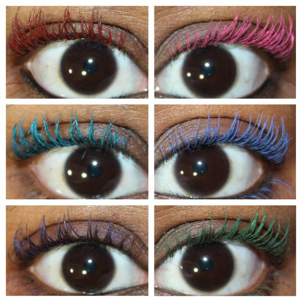 maybelline great lash color mascara swatch