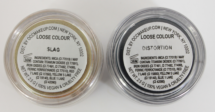occ loose colour slag and extortion back