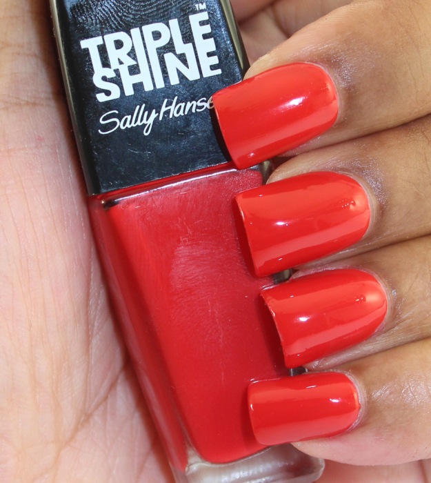 Sally Hansen RED SNAPPER flash