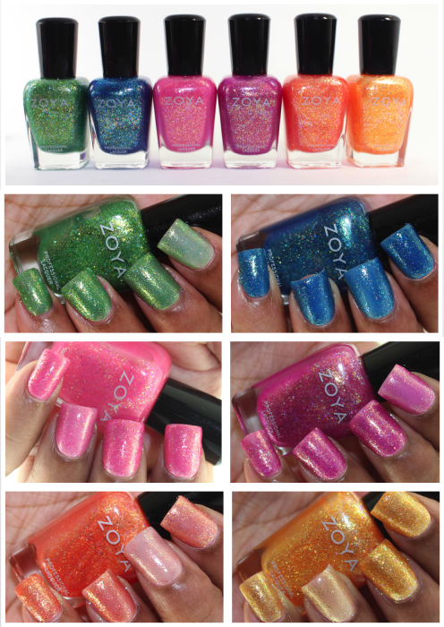 Zoya Bubbly Collection Swatches