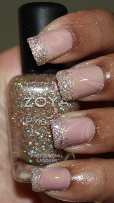 zoya natural and pixie mani
