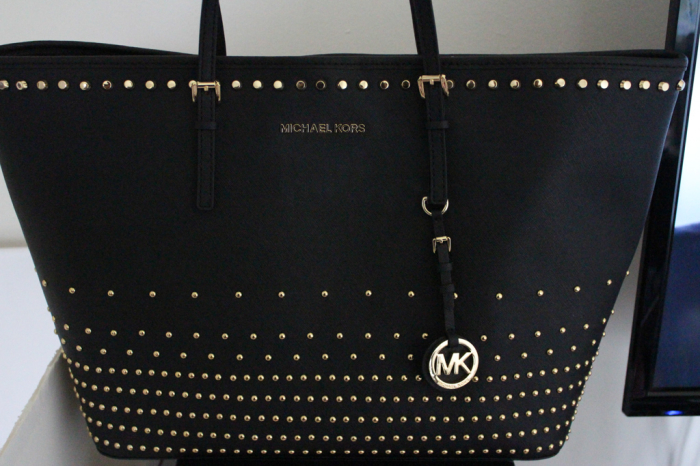 Michael Kors Jet Set Travel Stud Degrade tote-3