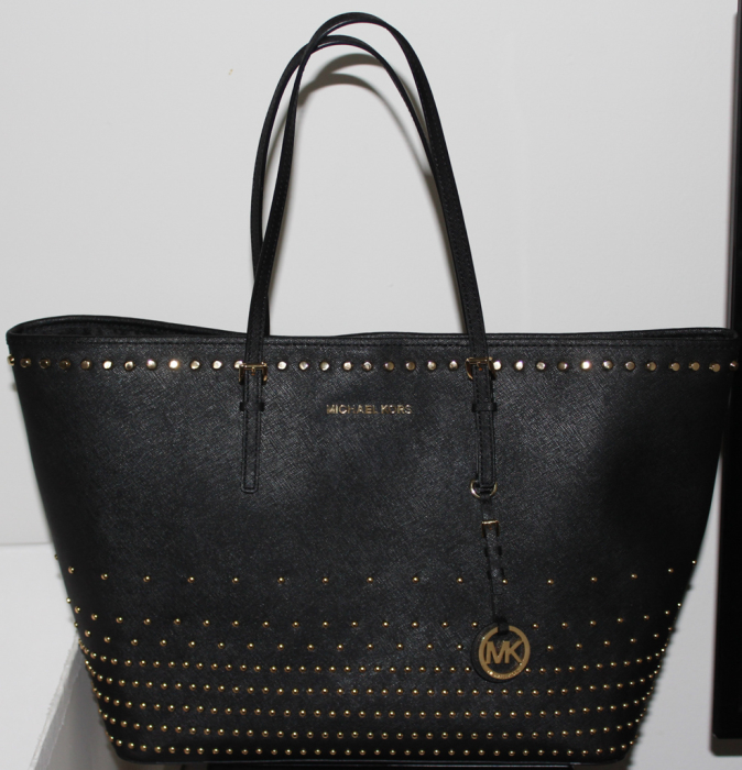 Michael Kors Jet Set Travel Stud Degrade tote