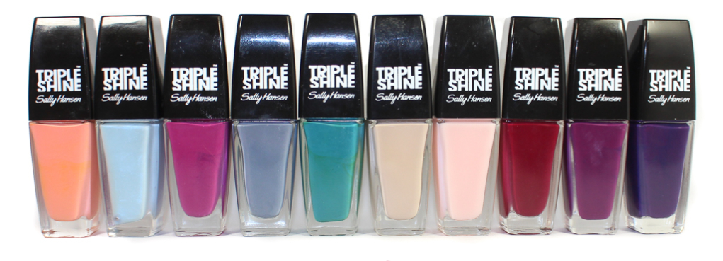 sally hansen spring 2015 triple shine shades