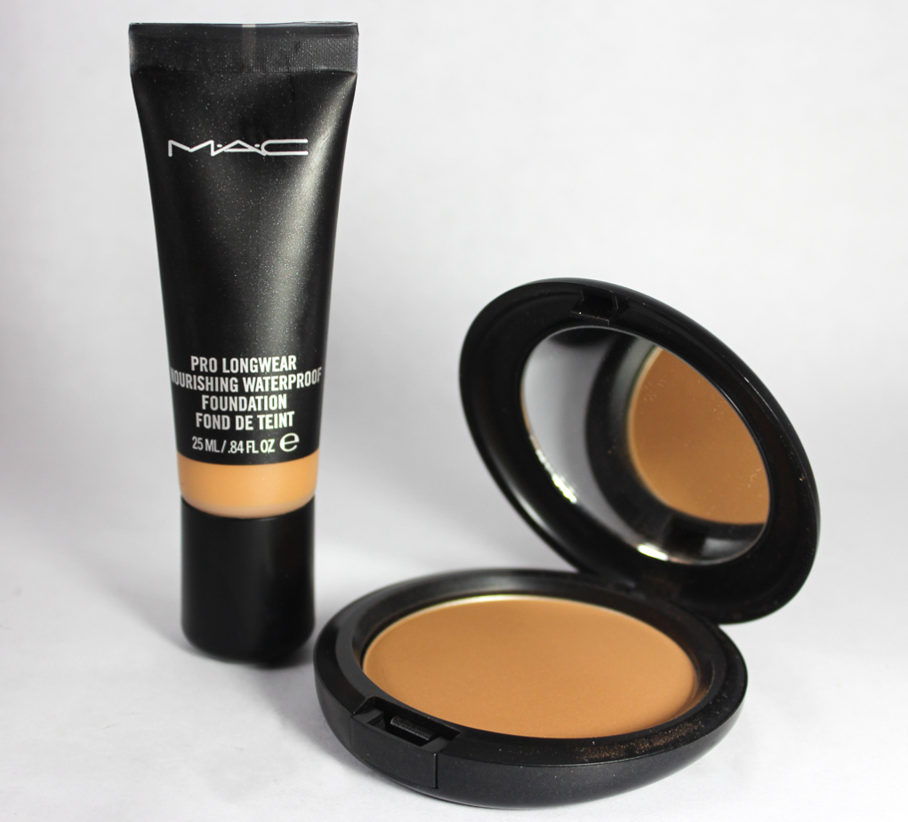 mac pro longwear nourishing waterproof foundation and pressed powder