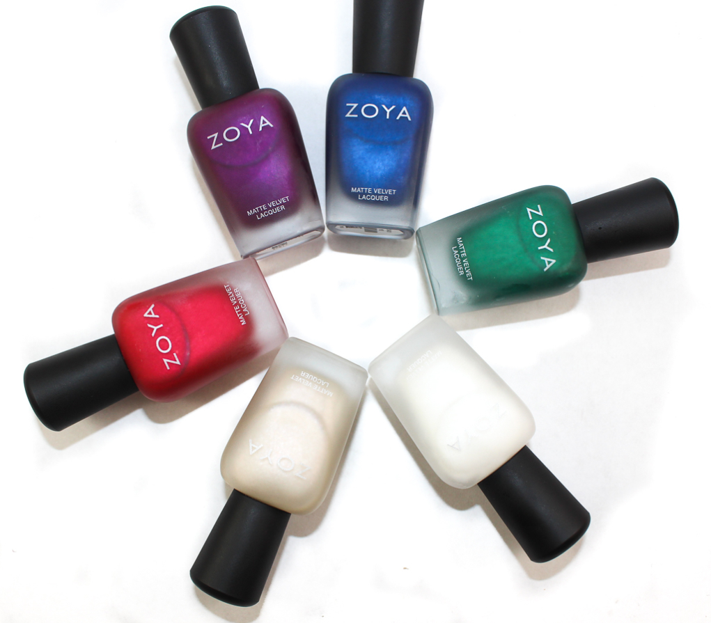 zoya matte velvet collection swatches 2015