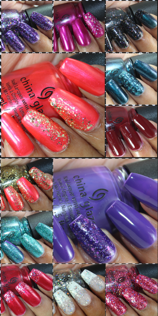 china glaze cheers collection swatches