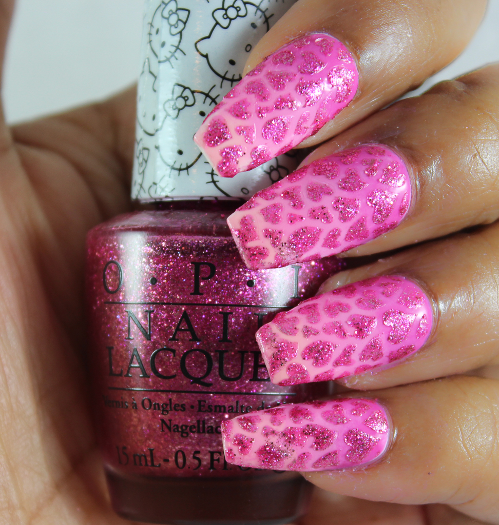 opi hello kitty nail art-3