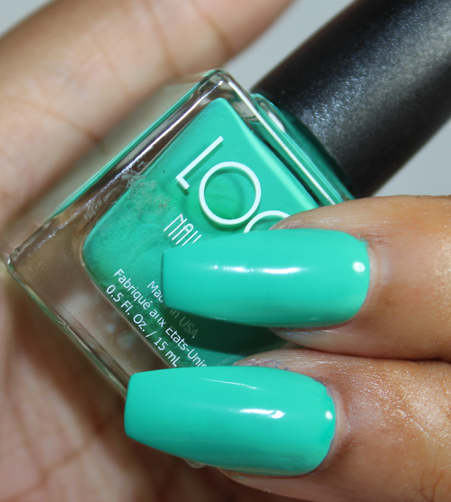 look nail color aqua-2