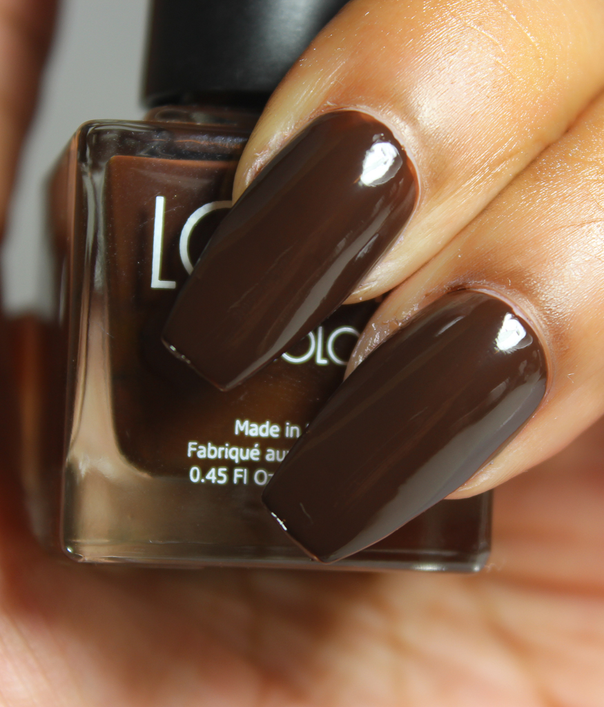 look nail color chocolate