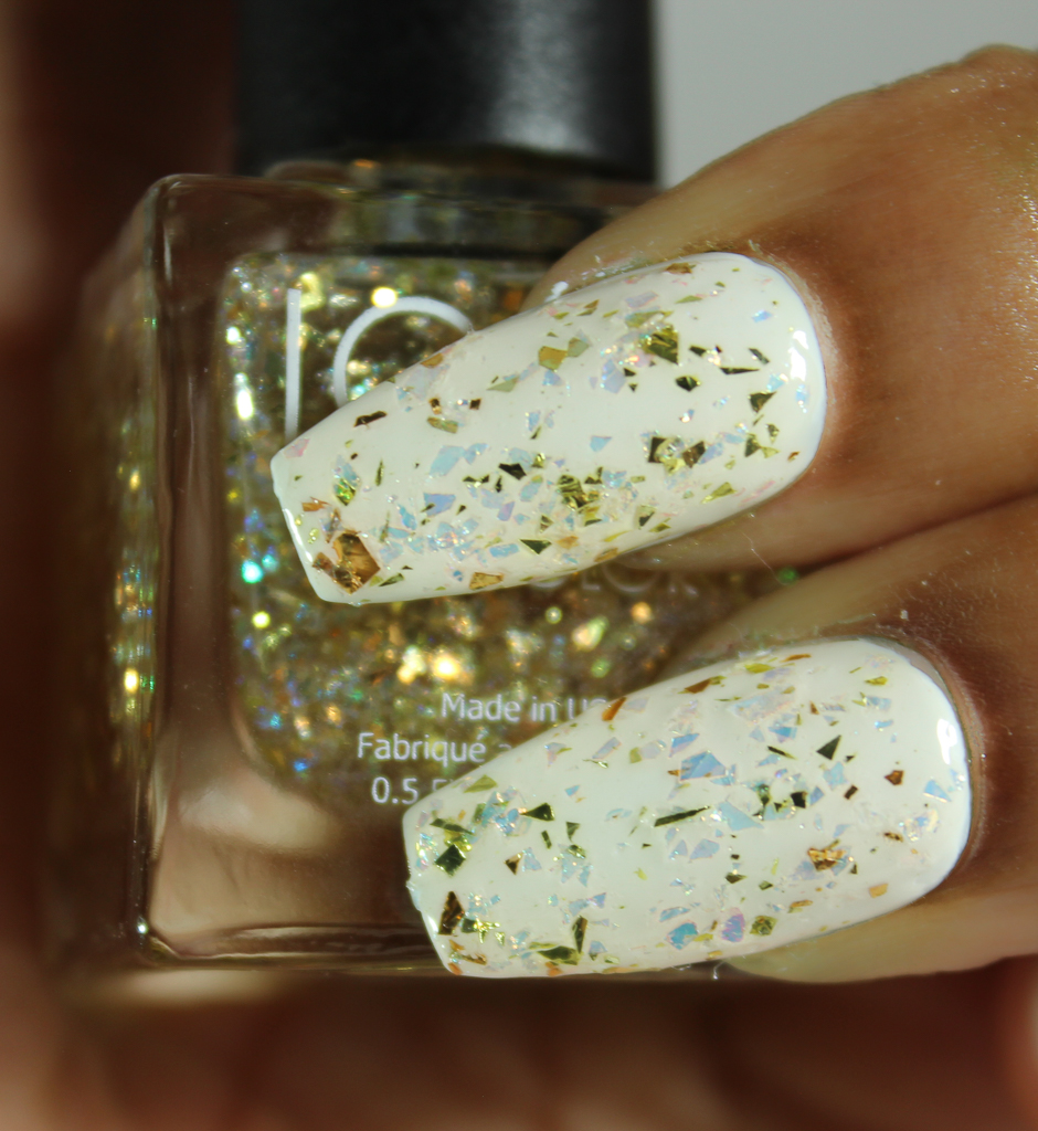 look nail color goldflakes