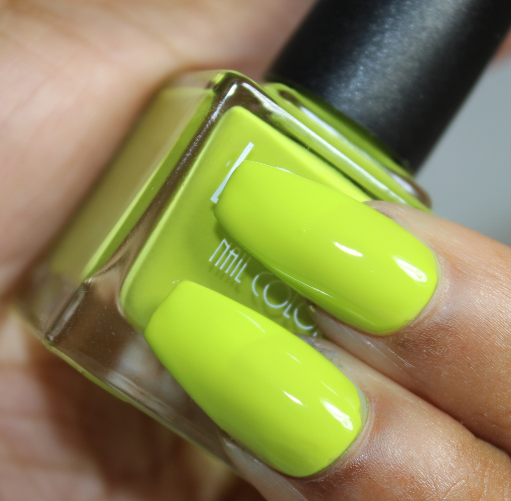 look nail color lime-2