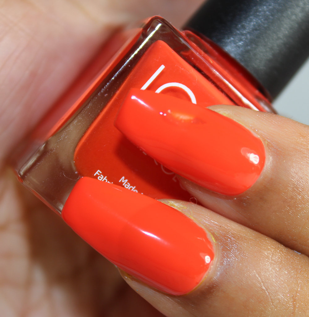 look nail color orange-2