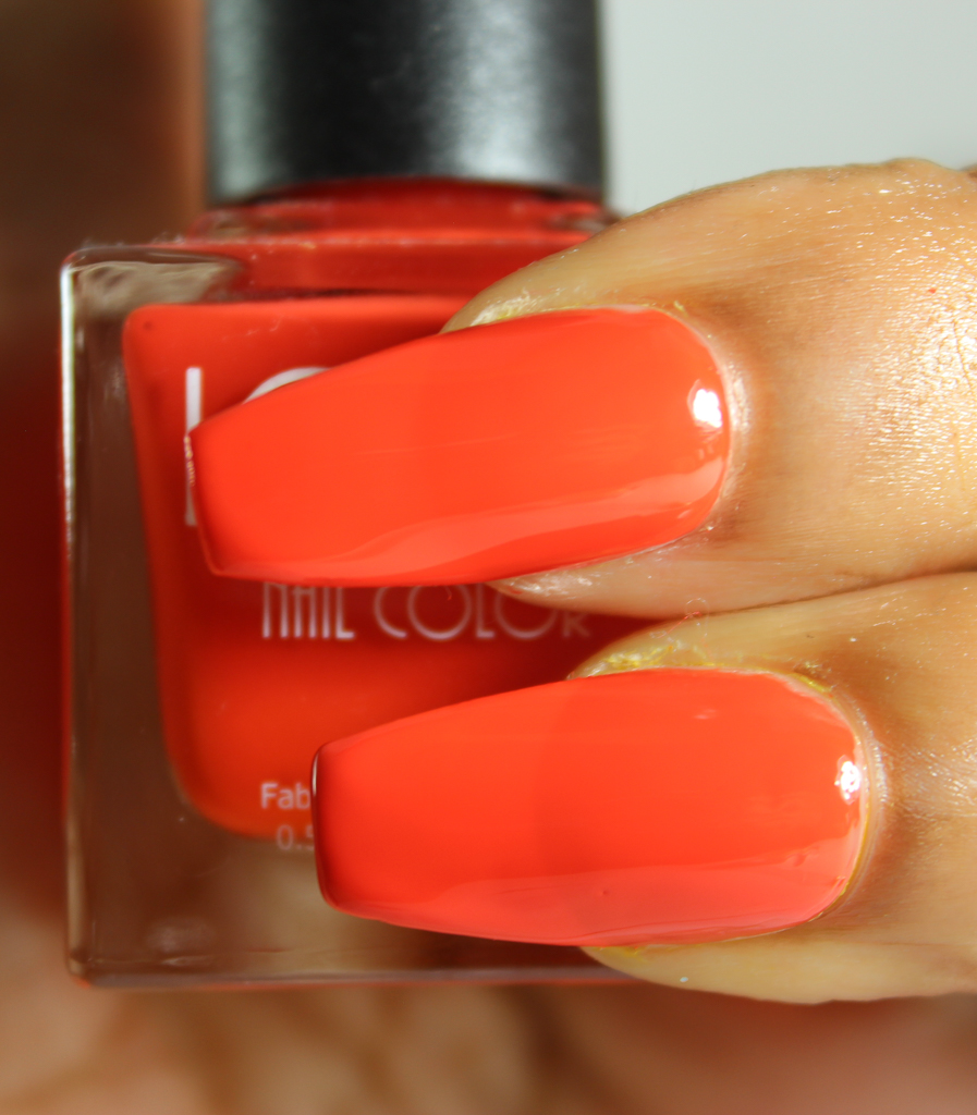 look nail color orange