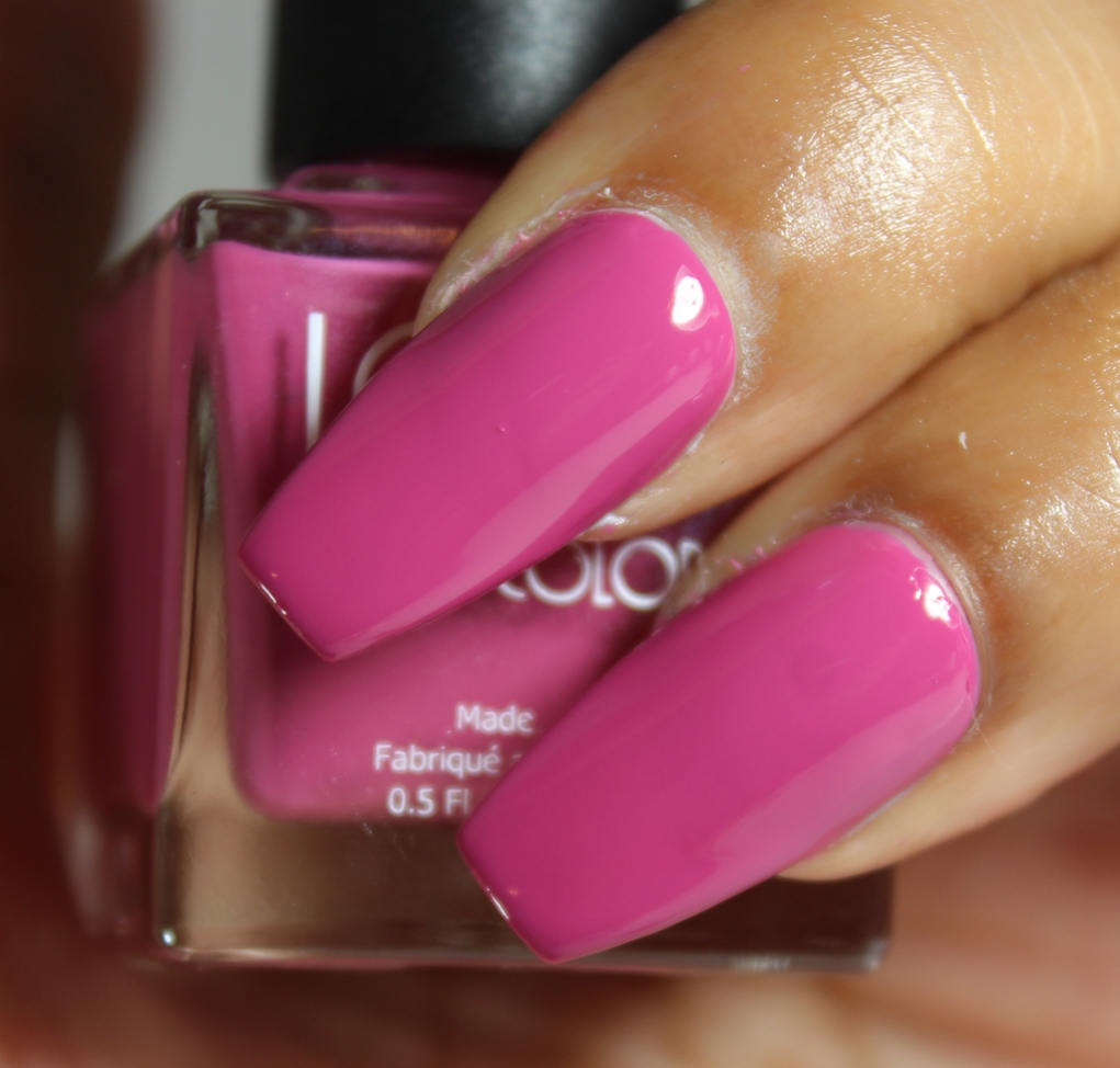 look nail color rose
