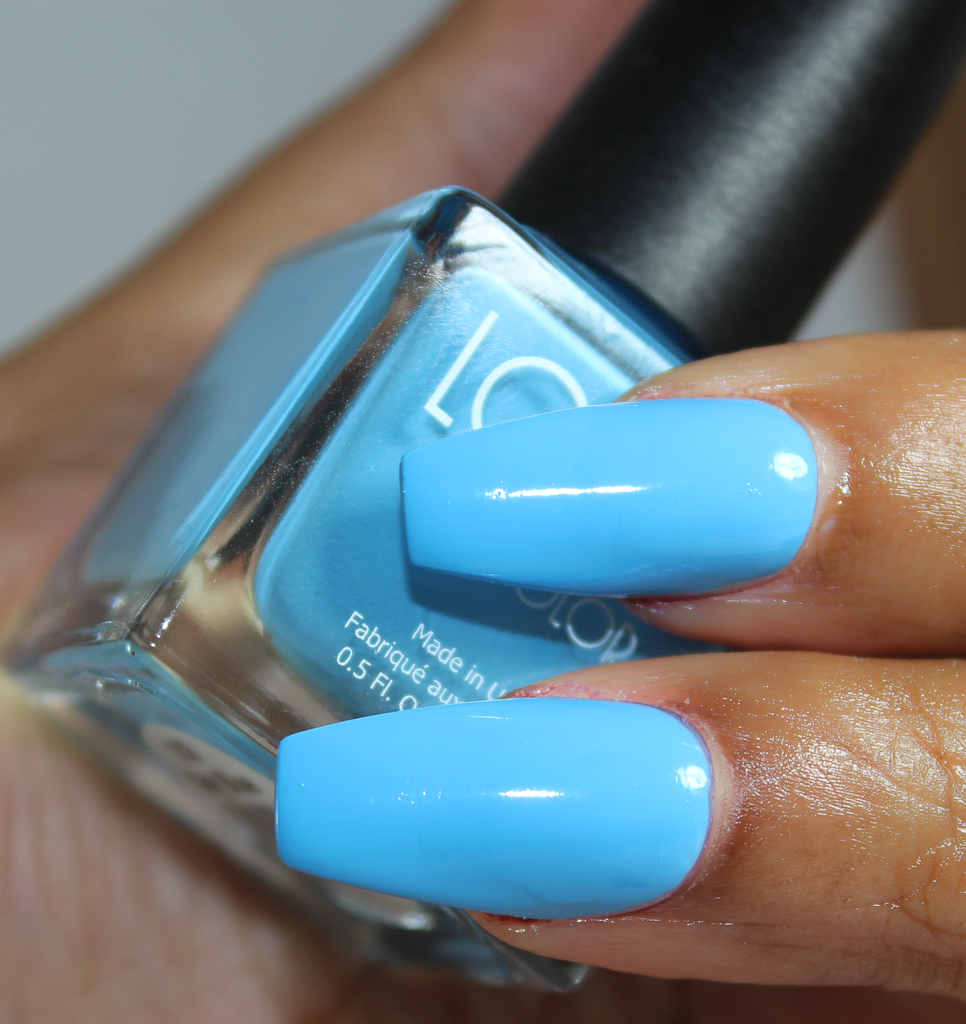 look nail color sky blue-2