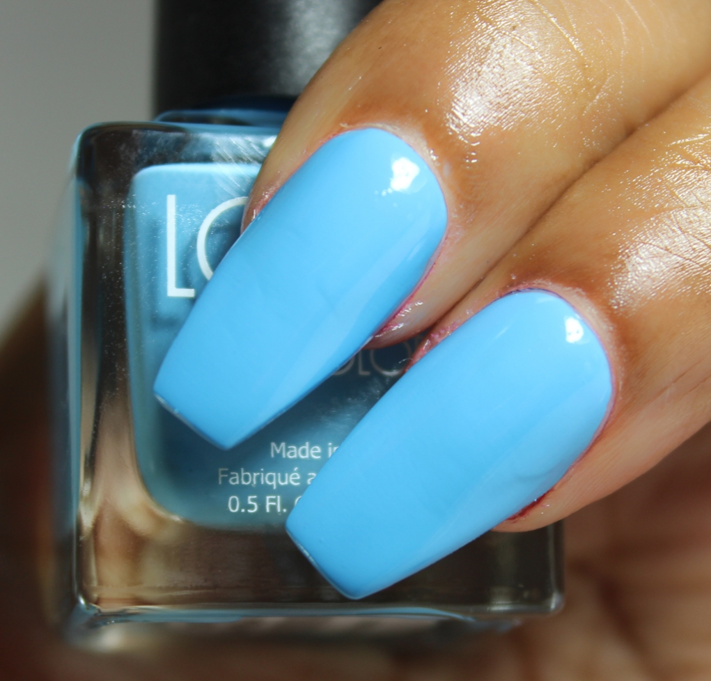 look nail color sky blue
