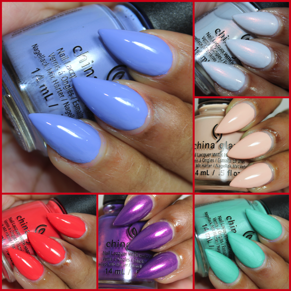 China glaze seas and greetings swatches beauty in the geek tis the sea sun for holiday collections and this year china glaze is taking a tropical escape from the traditional holiday palette with our seas and m4hsunfo